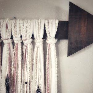 Boho Arrow Wall Art | Wood + Lace